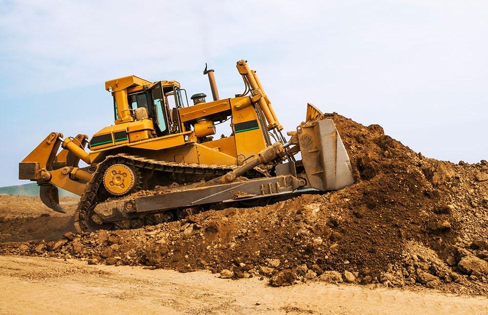 Bulldozer konstruksi